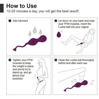 Aipapii Kegel Balls with Remote Control How to Use